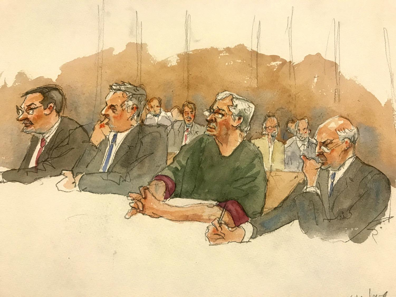 Judge Richard M. Berman denies Jeffery Epstein bail during a hearing in federal court