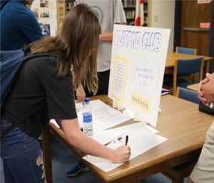 GBHS students signed up for the Clapping Club, which became the largest club with over 200 members.